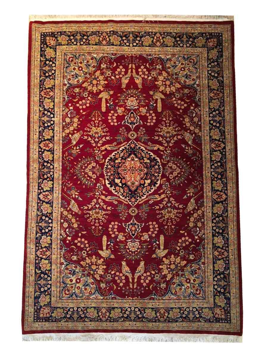 Héréké In Silk And Gold Thread Signed - Extra Fine Quality