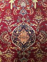 Héréké In Silk And Gold Thread Signed - Extra Fine Quality-1