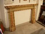 Painted wood fireplace XVIII sec.-1
