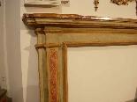 Camino in legno dipinto XVIII sec.-2