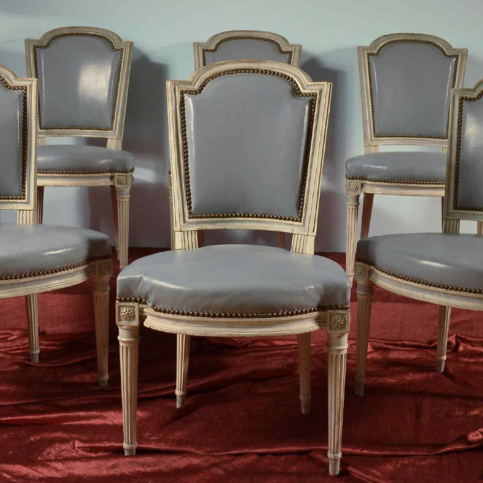 Groupe de chaises laquées antique - Paris XVIII siècle