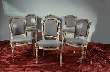 Gruppo di antiche sedie laccate - Parigi XVIII secolo-0