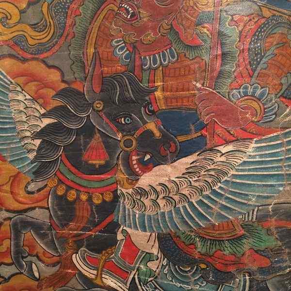 Tibetano cinese thangka 19th.century