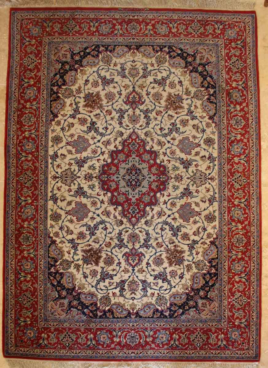 Isfahan Tappeto Firmato Davari - L'Iran Intorno al 1970 20