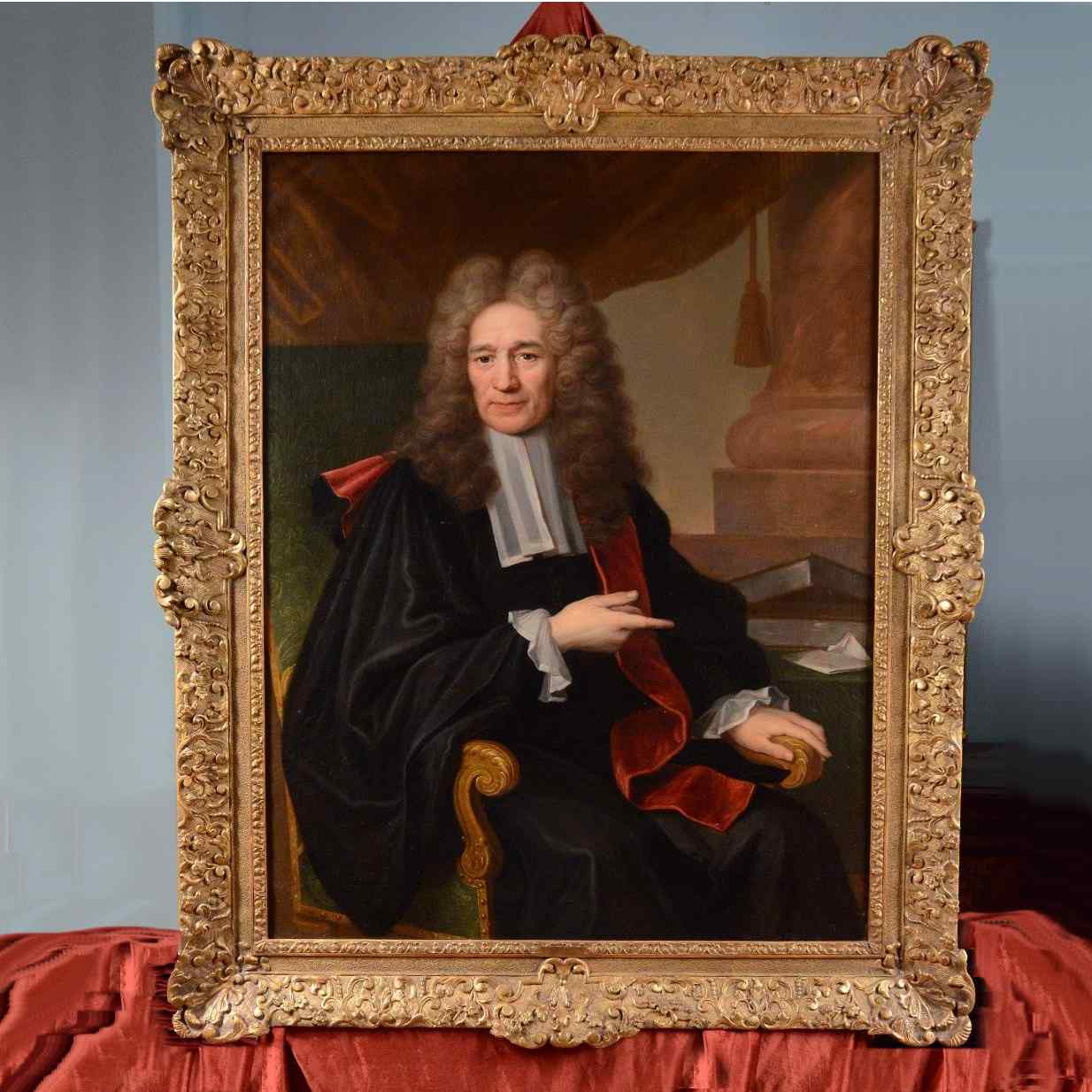 Great Portrait of Magistrate Hyacinthe RIGAUD  XVIIIth