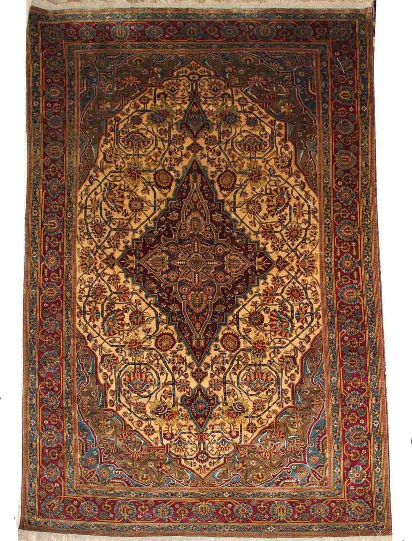 Carpets Kachan Mortachem silk About 1880 19th