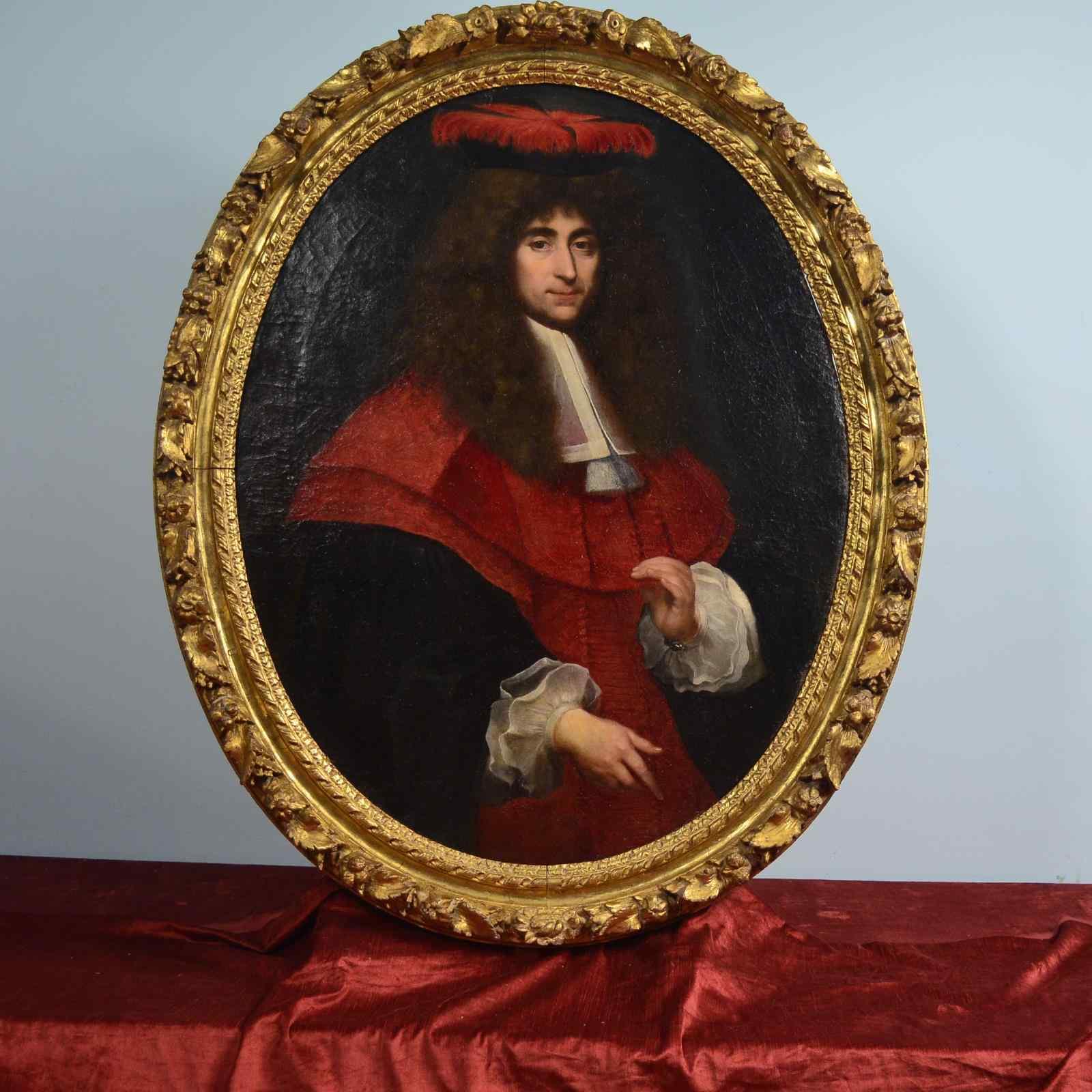 XVIIth Century Portrait, Jean de TROY 1638 - 1691
