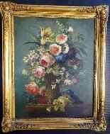 Coppia di Addobbi floreali 19, Olio / tela-5
