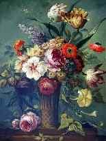Coppia di Addobbi floreali 19, Olio / tela-4
