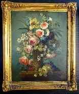 Пара 19-цветочные композиции, масло / холст-1