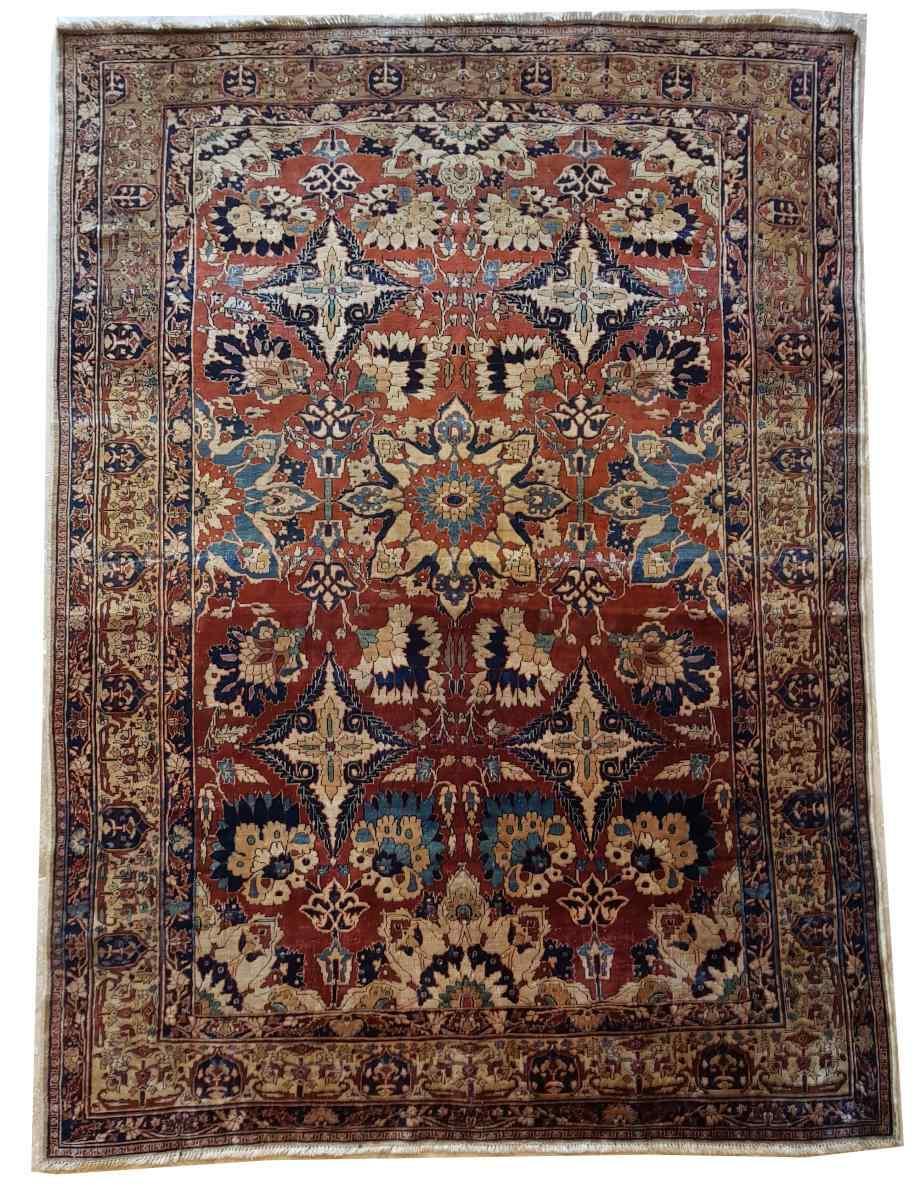 Tabriz soie -djaffer (perse) Vers 1870 Iran exceptionnel