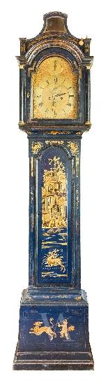 Orologio a colonna in legno laccato. Londra, XVIII sec.-0