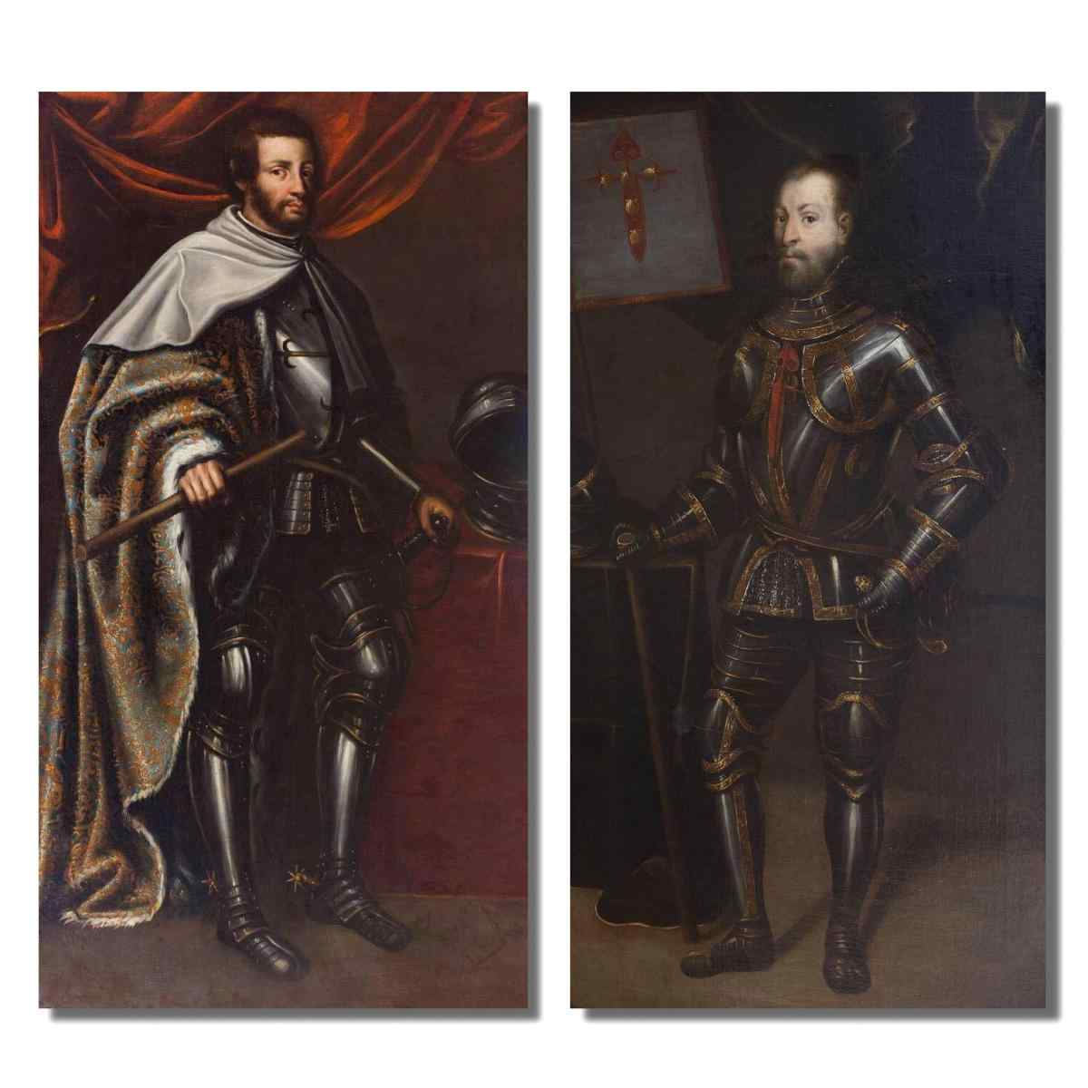 Pair of paintings from the 17th century