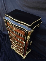 Furniture with 7 drawers in Boulle marquetry 19th  Napoleon-2