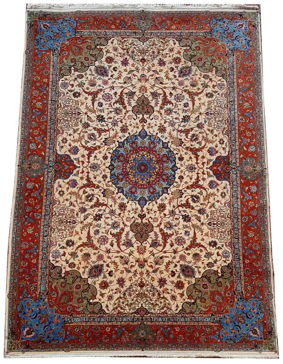 Carpets Tabriz Wool And Silk Signed - About 1970 Shah Period