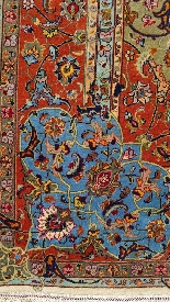 Carpets Tabriz Wool And Silk Signed - About 1970 Shah Period-5
