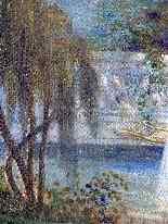 Ragazza con una lira nel 1914 Jardin Fleuri SCHNEIDER-5