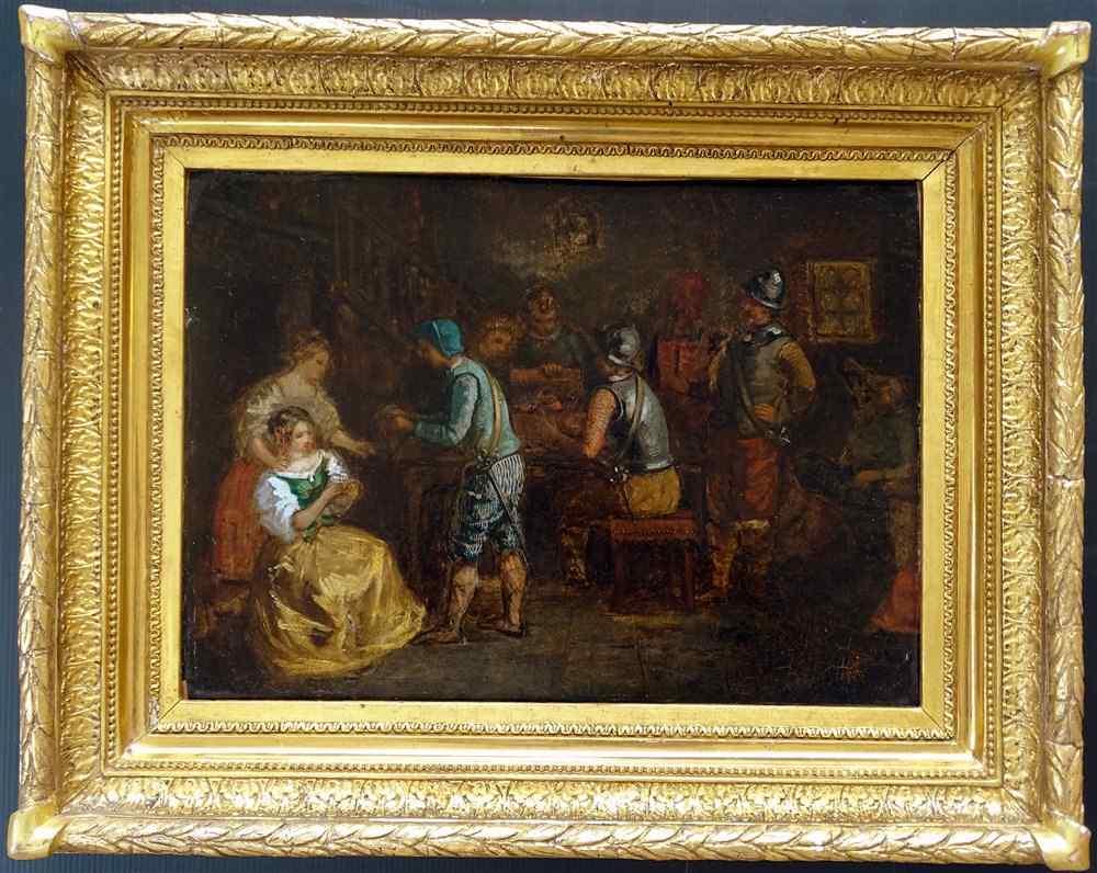 Ecole Française début XIXème, Scène de Taverne