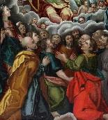 Bottega di L. Lombard, XVI secolo, Adorazione della Trinità-3