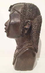 Bronze buste of an African man . ca. 1930 Foundry  L.Harze-1