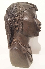 Bronze buste of an African man . ca. 1930 Foundry  L.Harze-3