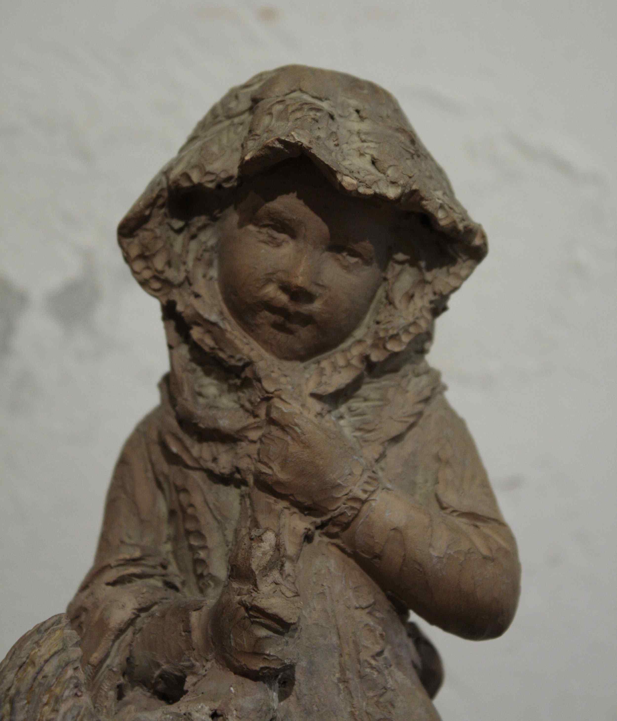 Fille avec coq - Andreini Ferdinando