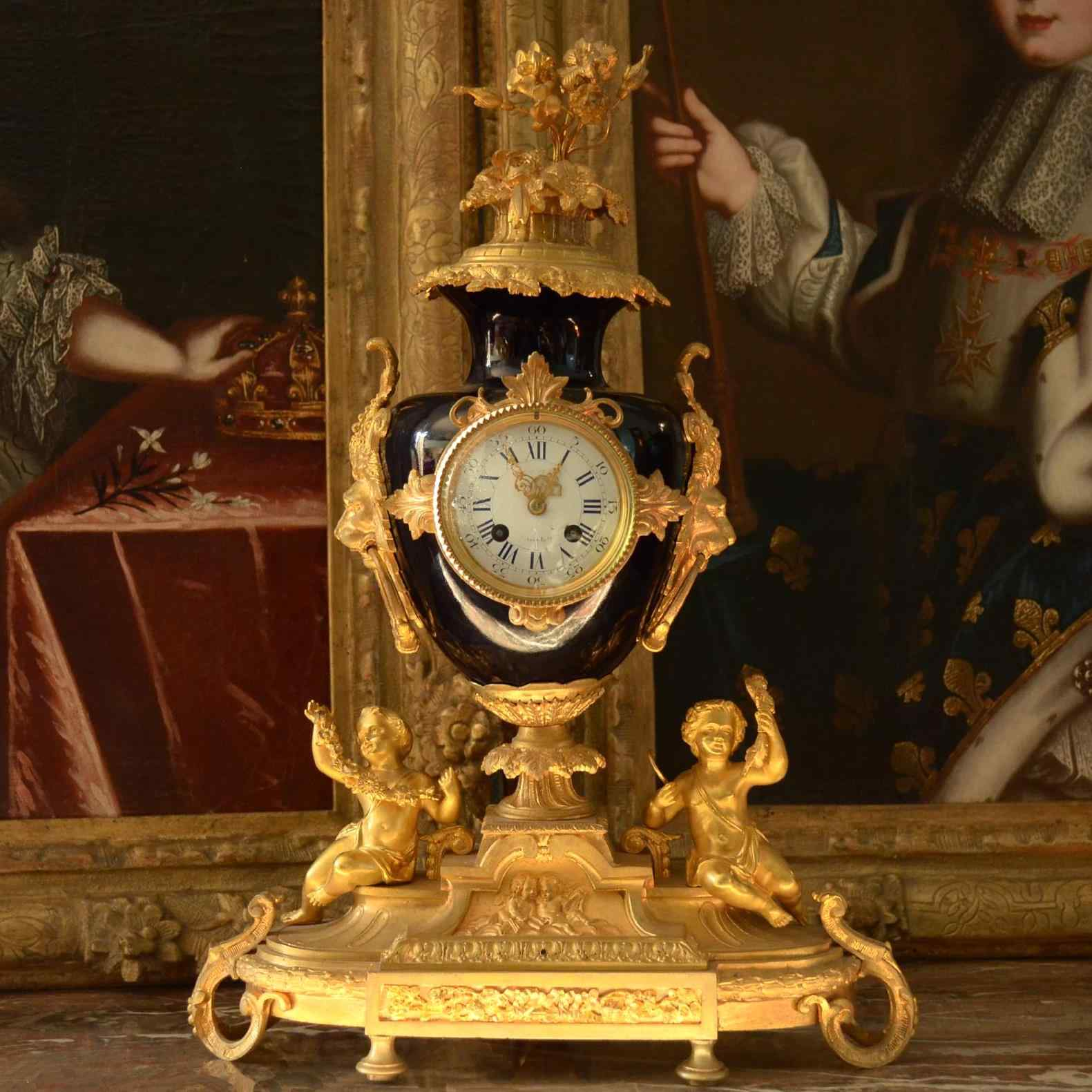 Pendola in bronzo dorato di epoca Napoleone III