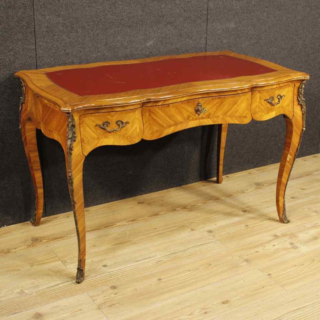 Французский письменный стол в лес Булонском розы в стиле Людовика XVI
