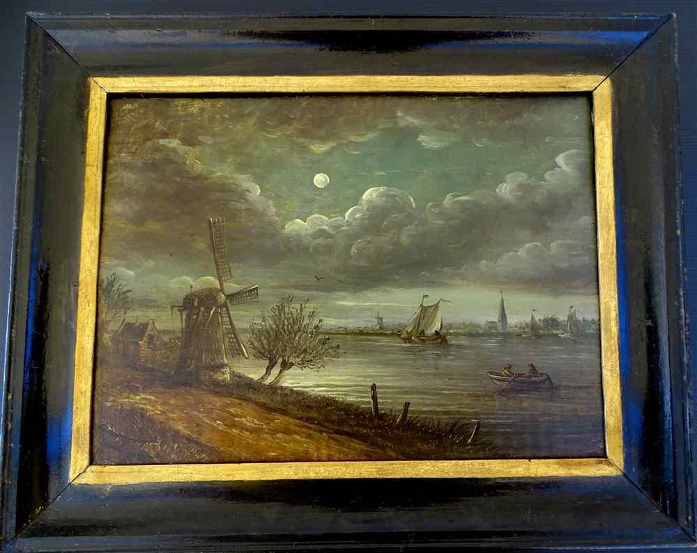 Paysage Hollandais au clair de Lune Aert I VAN DER NEER (160