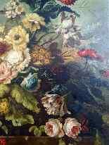 Importante Composition florale 19ème, huile/toile-2