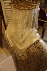 Importante statue du Sacré-Coeur De Marie En terre Cuite-15