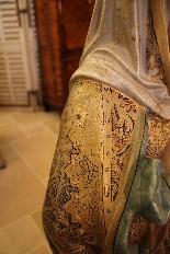 Importante statue du Sacré-Coeur De Marie En terre Cuite-14