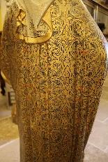 Importante statue du Sacré-Coeur De Marie En terre Cuite-11