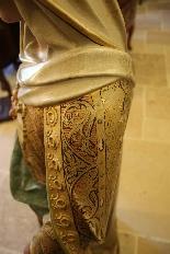 Importante statue du Sacré-Coeur De Marie En terre Cuite-10