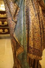 Importante statue du Sacré-Coeur De Marie En terre Cuite-16