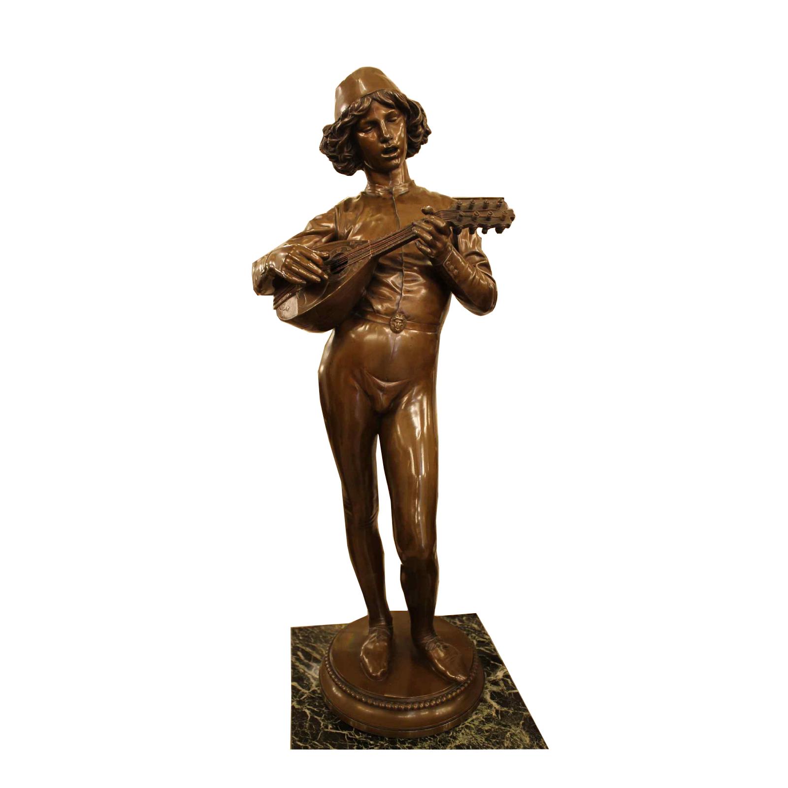 Le Chanteur Florentin, Bronze De Paul Dubois