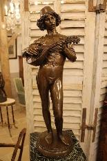 Le Chanteur Florentin, Bronze De Paul Dubois-2