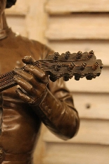 Le Chanteur Florentin, Bronze De Paul Dubois-9
