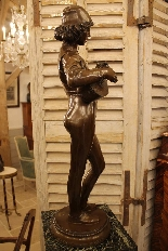 Le Chanteur Florentin, Bronze De Paul Dubois-0