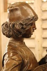 Le Chanteur Florentin, Bronze De Paul Dubois-6