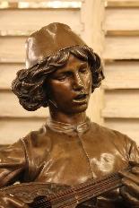 Le Chanteur Florentin, Bronze De Paul Dubois-5