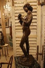 Le Chanteur Florentin, Bronze De Paul Dubois-4