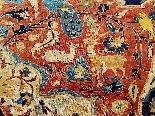 Гериз Ковер Великий Шелковый Dimension Иран 1870 - девятнадцатый-3