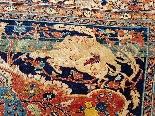 Гериз Ковер Великий Шелковый Dimension Иран 1870 - девятнадцатый-2