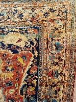 Гериз Ковер Великий Шелковый Dimension Иран 1870 - девятнадцатый-1