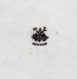 Raffinato vassoio di porcellana austriaca-3