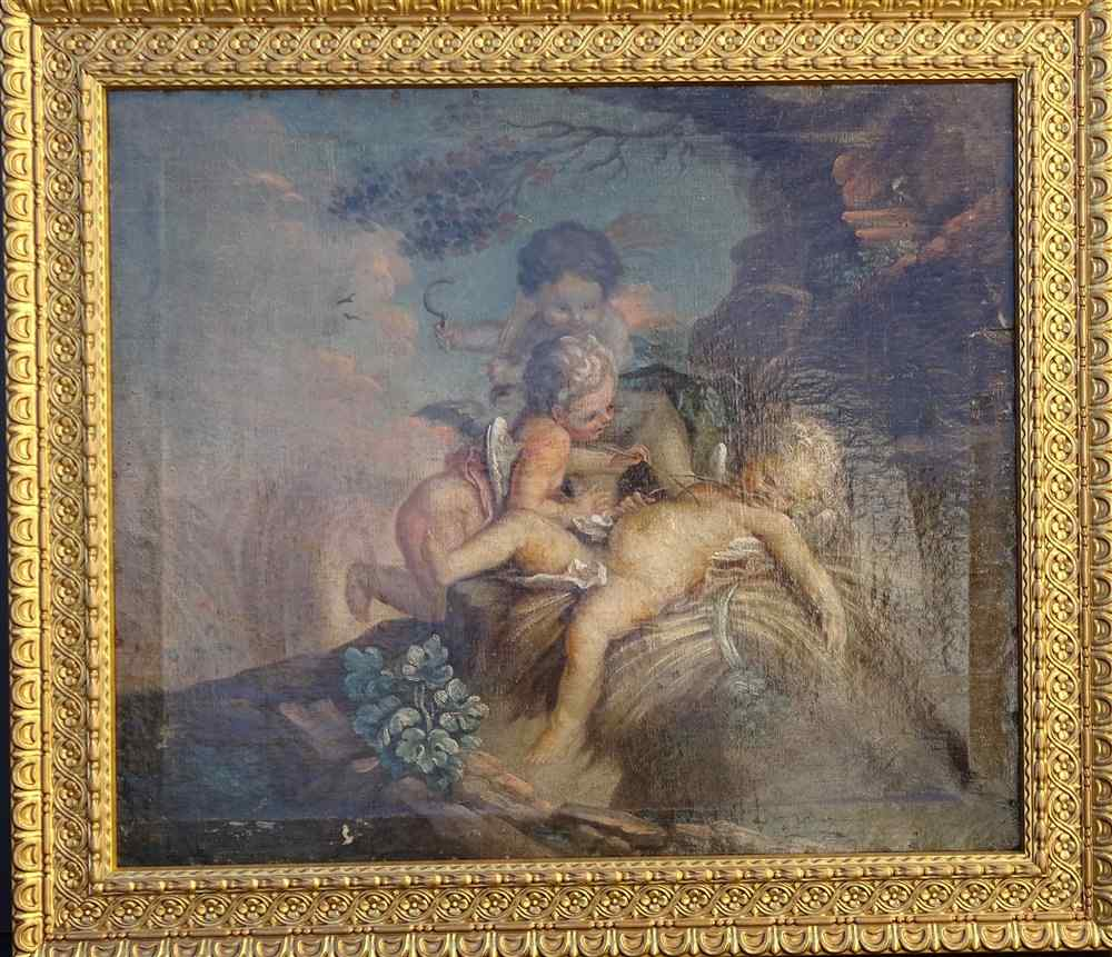 Italian School 17th, Children's Games Or Allegory Of The Sum