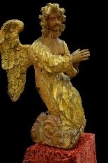 Coppia di grandi angeli del XVII secolo-3