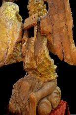 Coppia di grandi angeli del XVII secolo-4