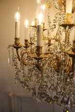 Бронзовые люстры и Баккара кристалл с 18 огнями, девятнадцатыми-12